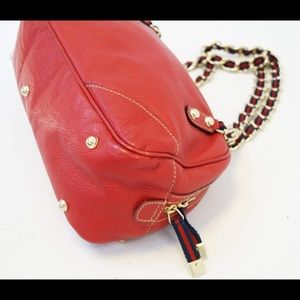 Gucci Bags - Wow Gucci Red Leather Soho Chain Web Chain Bag